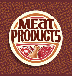 Logo for meat vector