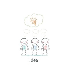 man and idea vector image