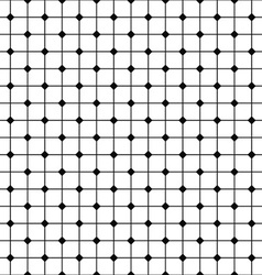 Monochrome abstract seamless grid pattern vector