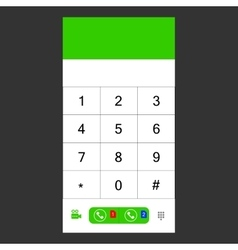 Number set keypad for the smartphone vector