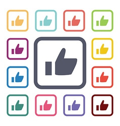 ok flat icons set vector image vector image