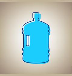 plastic bottle silhouette sign sky blue vector image vector image