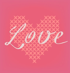 Romantic pink card vector