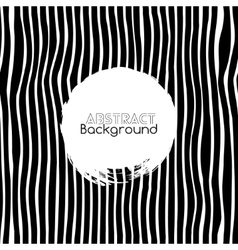 Seamless black and white stripes background vector image