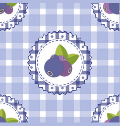 Seamless pattern with blueberry bright colors vector