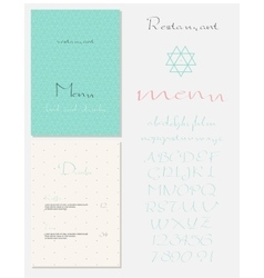 Set of vintage styled restaurant menu vector image vector image