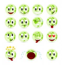 set smiles vector image vector image