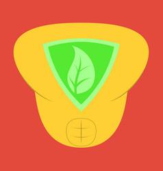 superhero color flat badges emblems logos vector image vector image