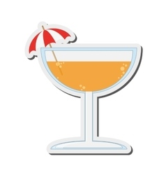 Tropical cocktail icon vector