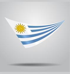uruguayan flag background vector image vector image