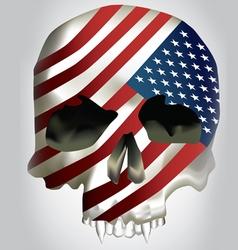 usa skull concept art vector image