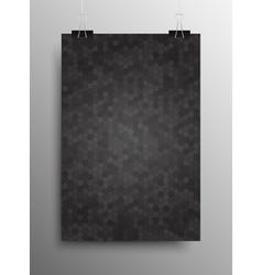 Vertical poster tile honey comb grey background vector