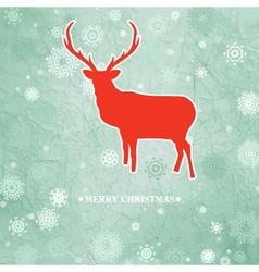 Vintage christmas deer pattern vector image vector image