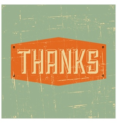 Vintage style thank you greeting card design vector image vector image