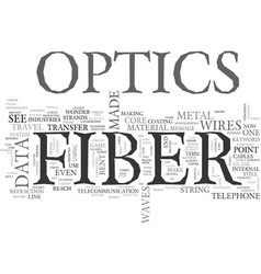 what is fiber optics text word cloud concept vector image