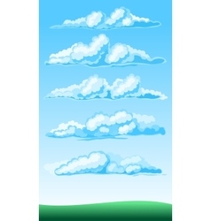 Set of cartoon clouds vector