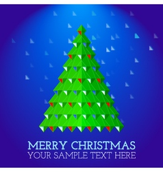 Christmas-greeting-card-abstract-christmas-tree vector