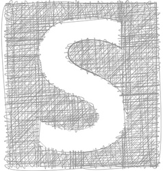 Freehand typography letter s vector