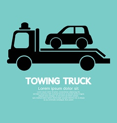 Car towing truck vector