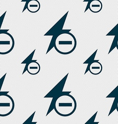 Photo flash icon sign seamless pattern with vector