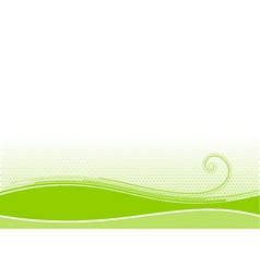 Green background with swirl shape vector