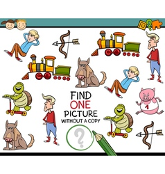 Find one picture game cartoon vector