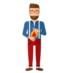 Man suffering from heartburn vector image