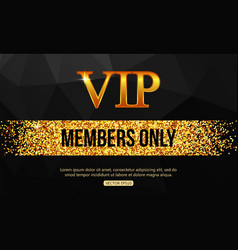 Gold vip background vip club members only vip vector