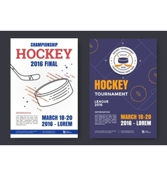 Ice hockey poster vector