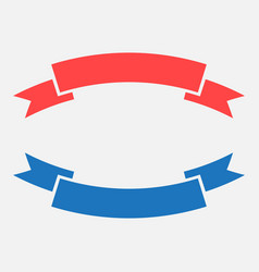 Badge icon ribbon in flat style on white vector
