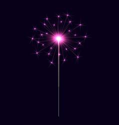 Bengal sparkler pink vector
