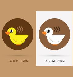 Bird cafe cup vector