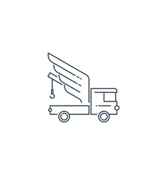 Breakdown truck with wings line logo concept vector