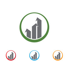 business finance logo and symbols concept vector image