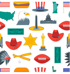 cartoon symbol of america background pattern vector image vector image