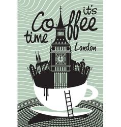 Coffee london vector