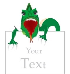 Dragon and advertising poster vector