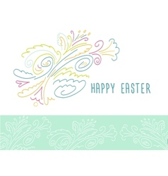 Happy Easter Easter floral pattern vector image