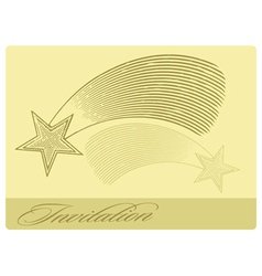 Invitation card with shooting star vector
