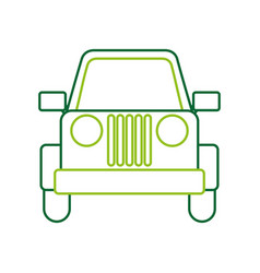 Jeep car vehicle transport camping vector