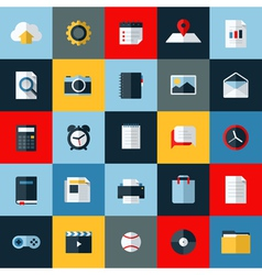 Modern flat icons set universal elements for web vector image vector image
