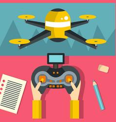 Radio-controlled drones concept vector