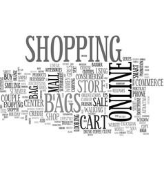 Shopping word cloud concept vector