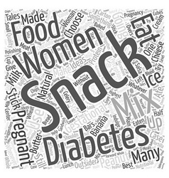Snack ideas for women with gestational diabetes vector