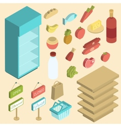 Supermarket icon isometric vector