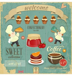 Sweet Cafe Menu Retro Design vector image vector image
