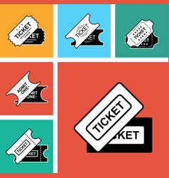 ticket icon isolated vector image vector image