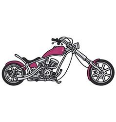 Violet chopper vector image vector image