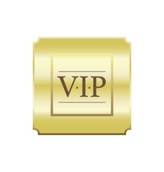VIP gold label label simple style vector image