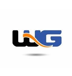 Wg initial company group logo vector